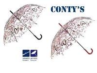 PARAGUAS CONTY'S TRANSPARENTE CORAZONES CN753 - 4/S