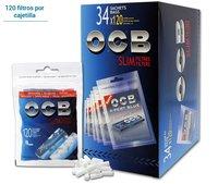 OCB FILTROS SLIM + LIBRITO OCB BLUE 34 unid.